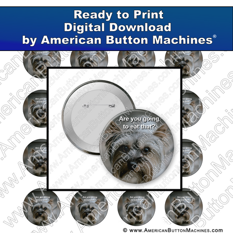 Digital Download, for buttons, digital download for buttons, hungry, pup, puppy, dog, eat