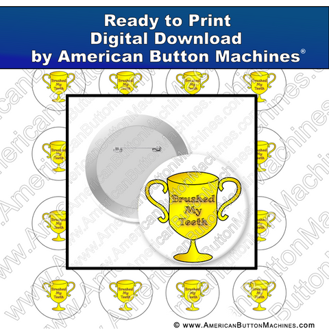 Digital Download, for buttons, digital download for buttons, silly trophy, quarantine, covid
