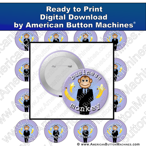 Business Monkey - Digital Download for Buttons