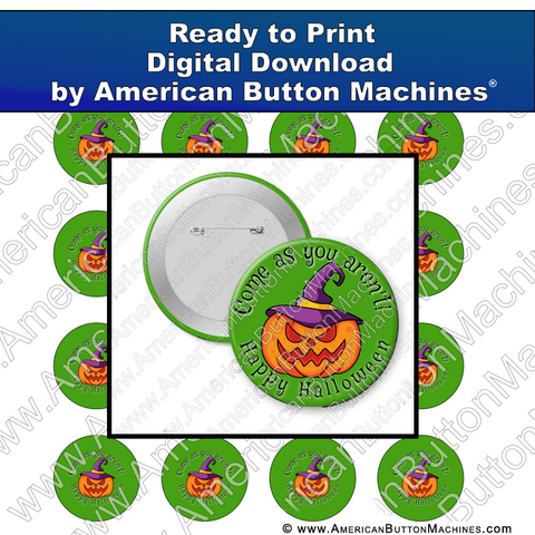 Digital Download, For Buttons, Digital Download for Buttons, Halloween, jack-o-lantern