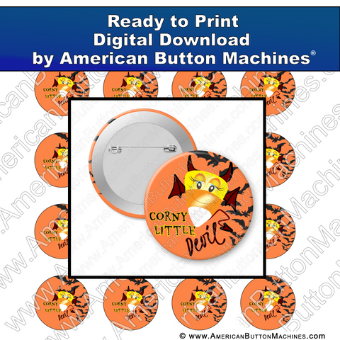Digital Download, For Buttons, Digital Download for Buttons, candy corn, devil, Halloween, bats, corny