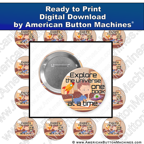 Explore the Universe - Digital Download for Buttons