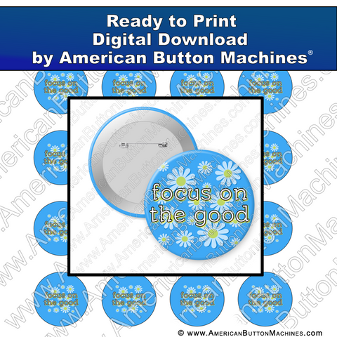 Digital Download, For Buttons, Digital Download for Buttons, daisies, focus, good