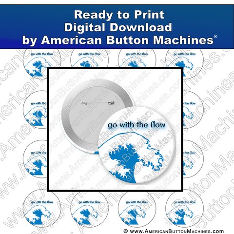 Digital Download, for buttons, digital download for buttons, wave, flow
