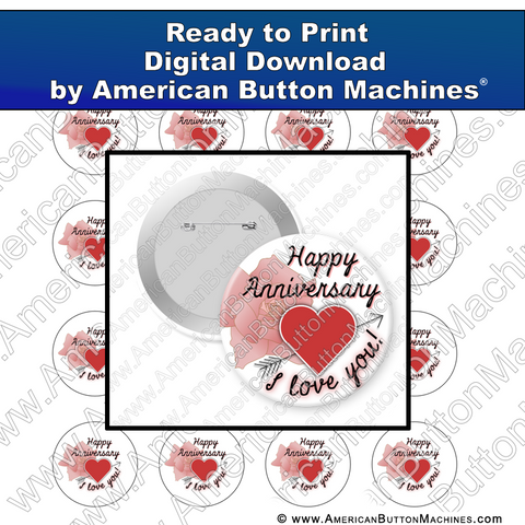 Digital Download, For Buttons, Digital Download for Buttons, Love, Anniversary