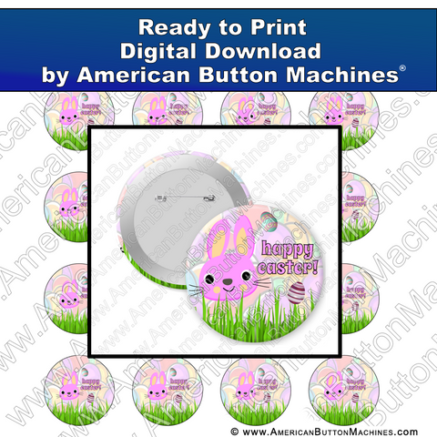 Happy Easter - Digital Download for Buttons