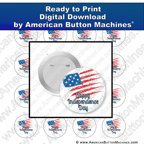 Digital Download, For Buttons, Digital Download for Buttons, July 4th, July Fourth, Flag, America