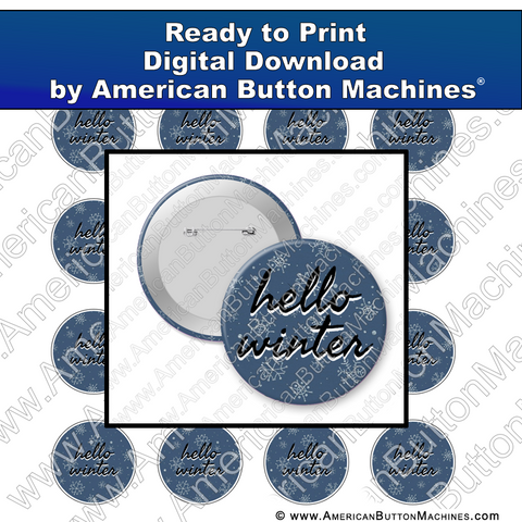 Digital Download, For Buttons, Digital Download for Buttons, winter, seasonal