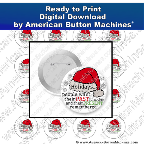 Digital Download, For Buttons, Digital Download for Buttons, Santa, Christmas, presents, holidays
