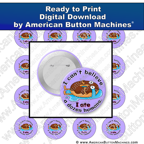 Digital Download, For Buttons, Digital Download for Buttons, donuts, eat, dozen