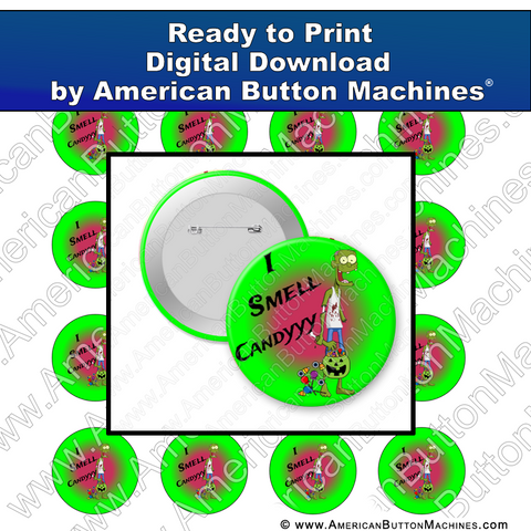 Digital Download, For Buttons, Digital Download for Buttons, zombie, halloween, trick or treat, candy