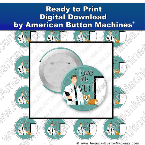 Digital Download, For Buttons, Digital Download for Buttons, Vet, Veterinarian