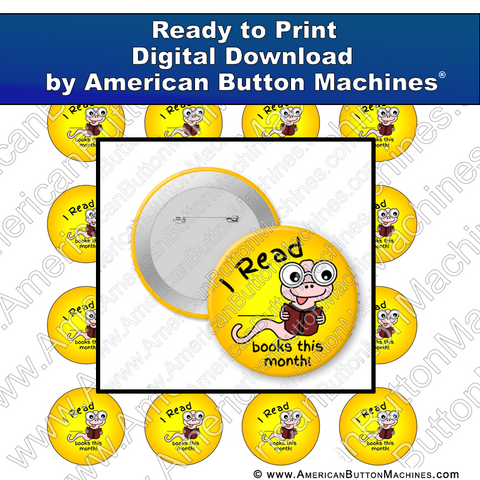 Digital Download, for buttons, digital download for buttons, reading, school, library, learning, award, books