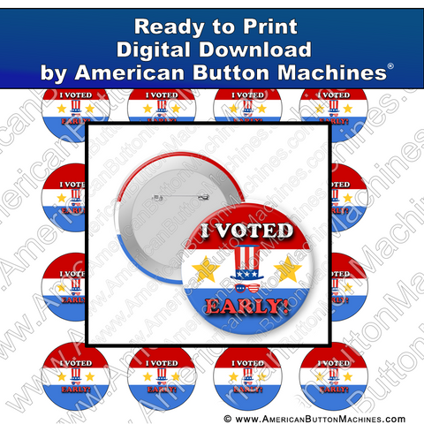 Digital Download, for buttons, digital download for buttons, vote, i voted, vote early