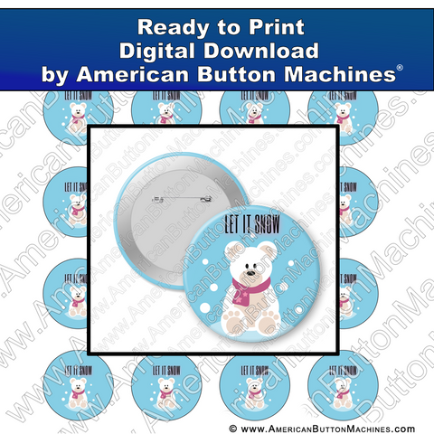 Digital Download, for buttons, digital download for buttons, snow, winter, holidays