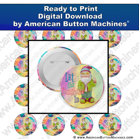 Digital Download, for buttons, digital download for buttons, sunshine