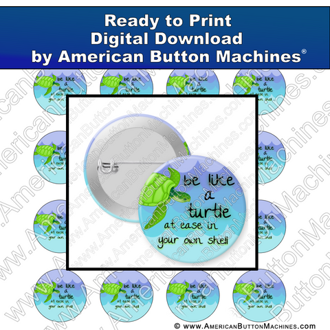 Digital Download, Digital Download for Buttons, turtle, sea turtle, ocean