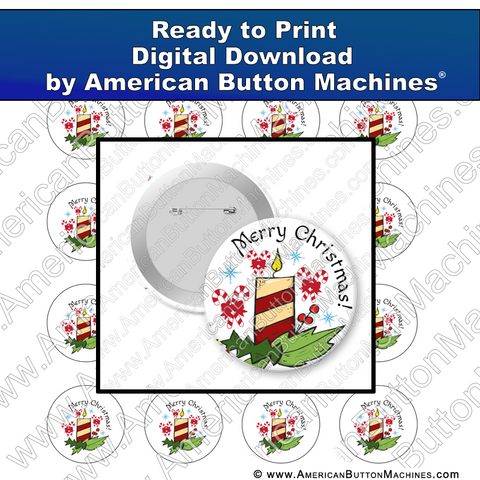 Digital Download, For Buttons, Digital Download for Buttons, Christmas, Holidays