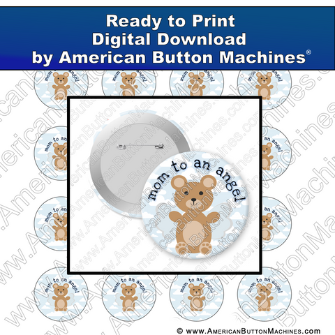 Digital Download, For Buttons, Digital Download for Buttons, babies, angel, loss, memorial