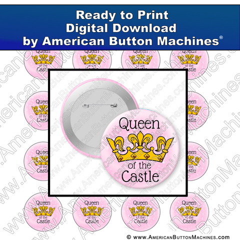 Digital Download, For Buttons, Digital Download for Buttons, queen, home, mom, wife