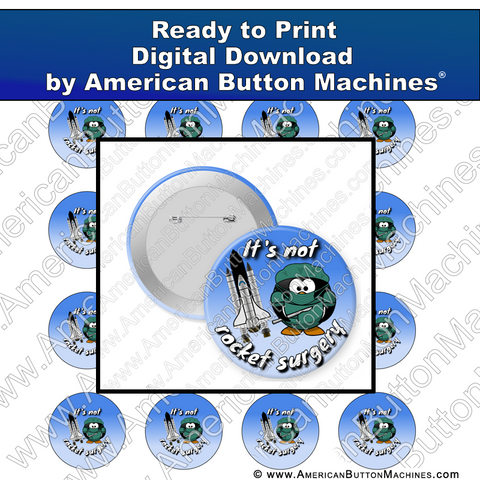 Digital Download, for buttons, digital download for buttons, rocket, surgery