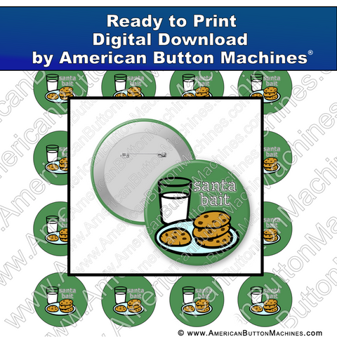 Digital Download, for buttons, digital download for buttons, Christmas, cookies, santa