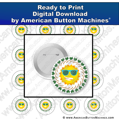 Digital Download, for buttons, digital download for buttons, Summer, Sun