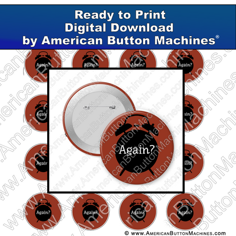 Digital Download, for buttons, digital download for buttons, alarm