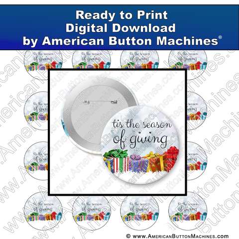 Digital Download, For Buttons, Digital Download for Buttons, Christmas, holidays, gifts, presents, giving
