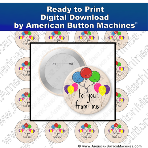 Digital Download, For Buttons, Digital Download for Buttons, gift, gift tag, birthday, anniversary, present
