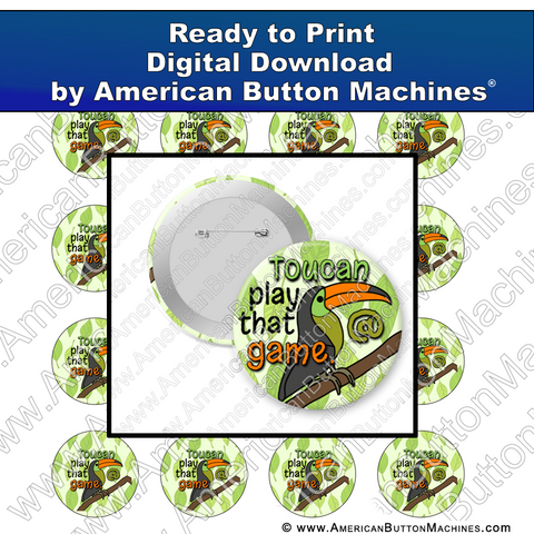 Digital Download, For Buttons, Digital Download for Buttons, toucan, game, play