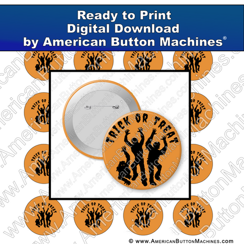 Digital Download, For Buttons, Digital Download for Buttons, Halloween, trick or treat, candy