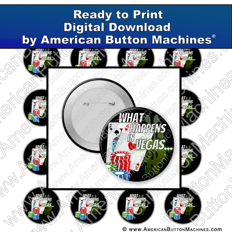 Digital Download, For Buttons, Digital Download for Buttons, Vegas, gambling, fun, bachelor, bachelorette