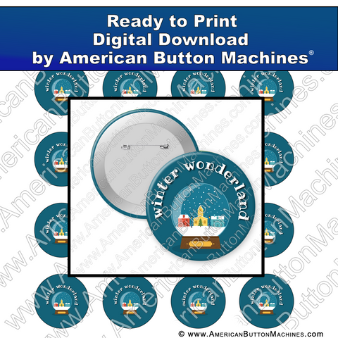 Digital Download, For Buttons, Digital Download for Buttons, winter, snow globe, snow, wonderland