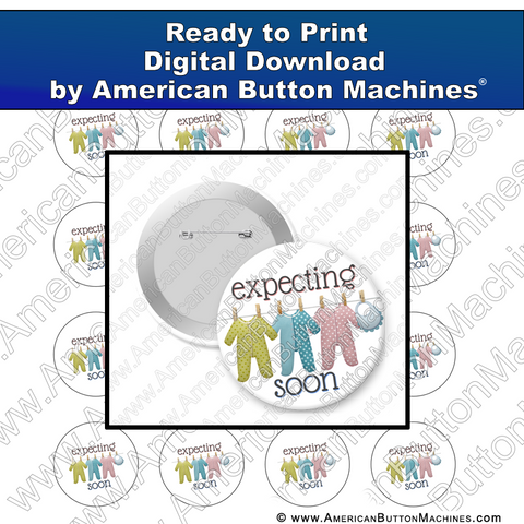 Digital Download, For Buttons, Digital Download for Buttons, , babies, expecting, mother to be