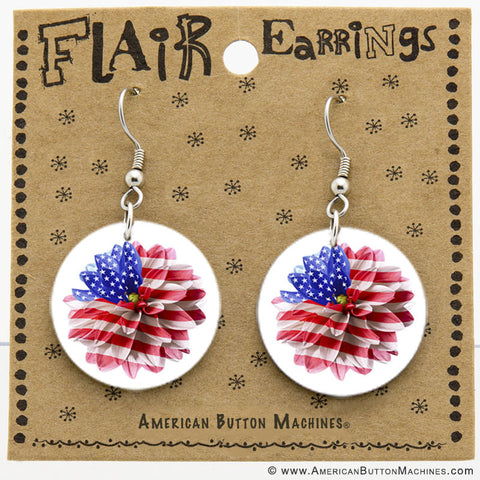 "1"" French Wire Earring Set - American Button Machines"