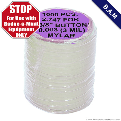 2.25'' Mylar - BAM - American Button Machines