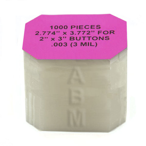 2x3 Mylar for Paper Button Makers - American Button Machines