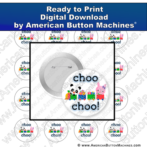 Digital Download, For Buttons, Digital Download for Buttons, train, kids, choo choo