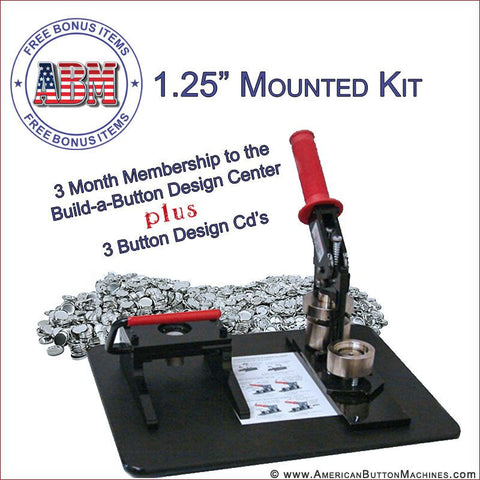 "1.25"" Mounted Button Making Kit"
