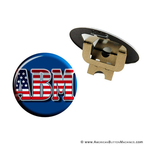 "6"" Pinback Button Set - American Button Machines"