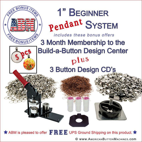 "1"" Beginner Button Maker Kit * Pendant Special"