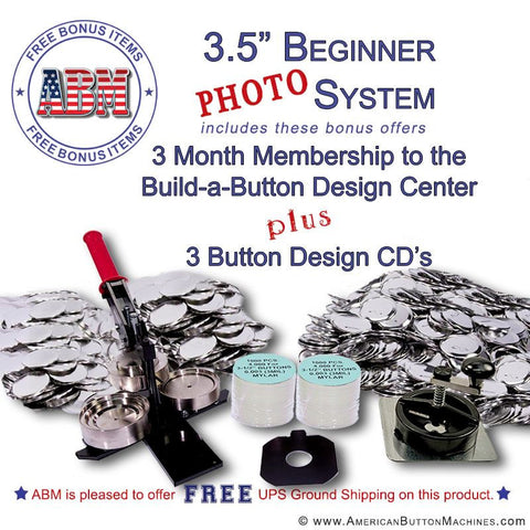 "3.5"" Beginner Paper/Photo Button Kit"