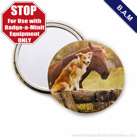 "2.25"" B.A.M Mirror Back Button Set"