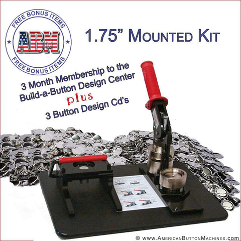"1.75"" Mounted Button Making Kit - American Button Machines"