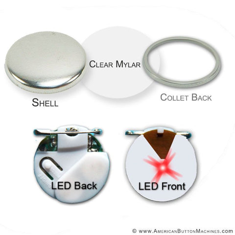 3'' Red Flashing Button Kit