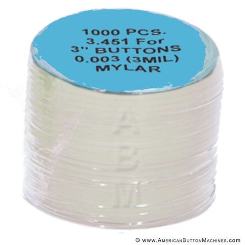 3'' Mylar - American Button Machines