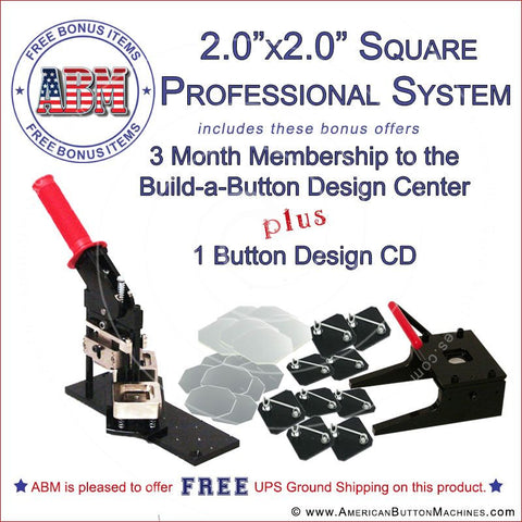 "Square 2x2"" Professional Kit - American Button Machines"