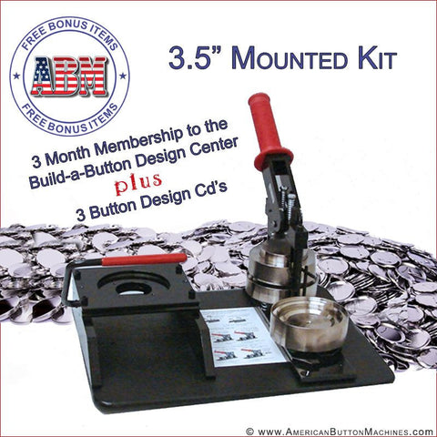 "3.5"" Mounted Photo Button Making Kit - American Button Machines"