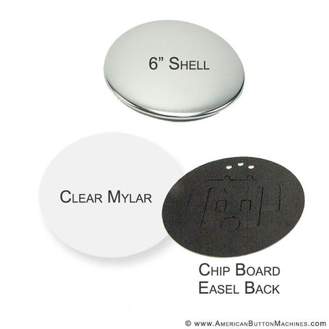 "6"" Pinback Button Set"